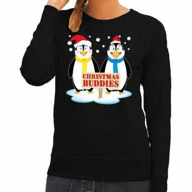 Foute Kersttrui Pinguin.Foute Kersttrui Pinguin Vriendjes Zwart Dames Kersttrui Dames Nl
