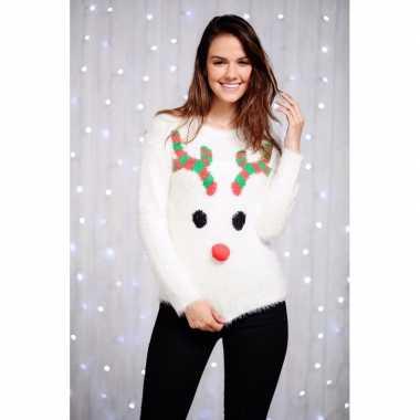 Foute kersttrui rendier voor dames
