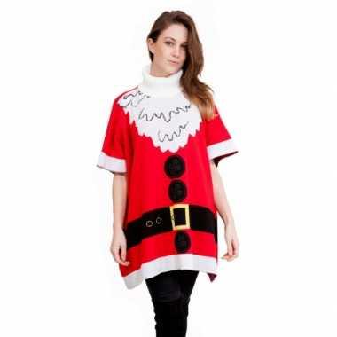 Kersttrui Kerstman.Kersttrui Kerstman Dames Poncho Kersttrui Dames Nl