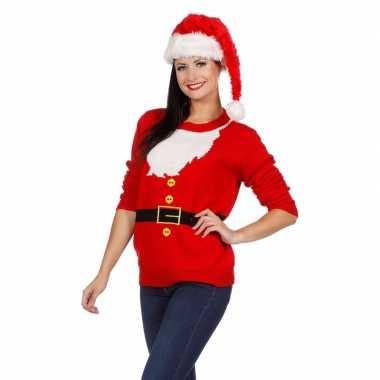 Kersttrui Lang Dames.Kersttrui Kerstman Voor Dames Kersttrui Dames Nl