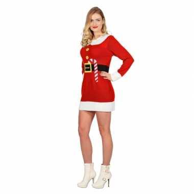 Kersttrui Jurk.Rode Kerst Jurk Met Print Voor Dames Kersttrui Dames Nl