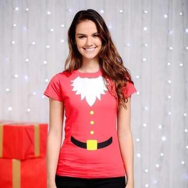 Rood kerstman t-shirt voor dames