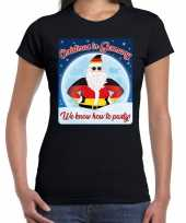 Fout duitsland kerst shirt christmas in germany zwart dames