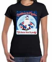 Fout friesland kerst shirt christmas in fryslan zwart voor dames