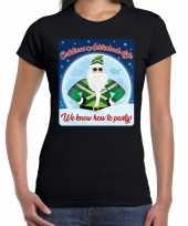 Fout kerst shirt achterhoek style zwart voor dames