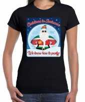 Fout kerst shirt christmas in suriname zwart voor dames