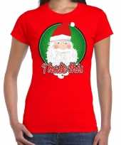 Fout kerst shirt i hate this rood voor dames