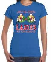 Fout kerst shirt single jingle ladies blauw voor dames